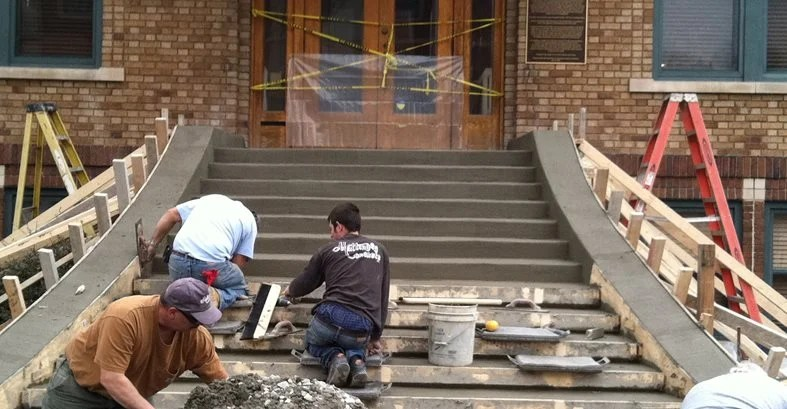 Forming Concrete Steps Side Walls