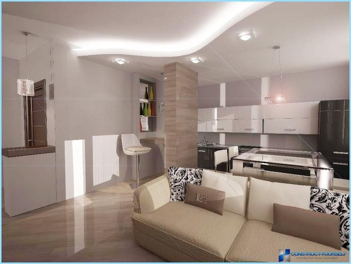 ✓ homelook.it è una grande piattaforma per interior design in italia che facilita la ricerca. Progettazione Di Un Soggiorno Combinato Con Una Cucina Di 18 20 25 Mq Foto