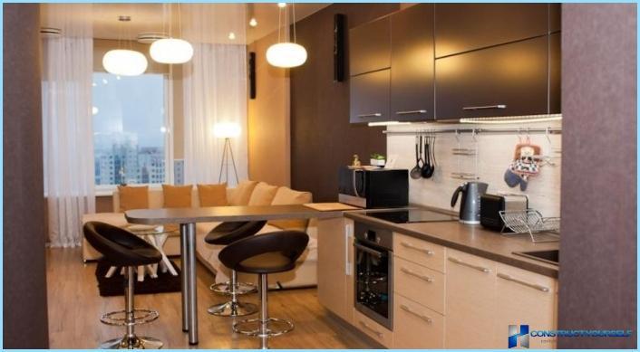 Un ambiente di 18 metri quadri deve essere studiato in modo diverso. Progettazione Di Un Soggiorno Combinato Con Una Cucina Di 18 20 25 Mq Foto