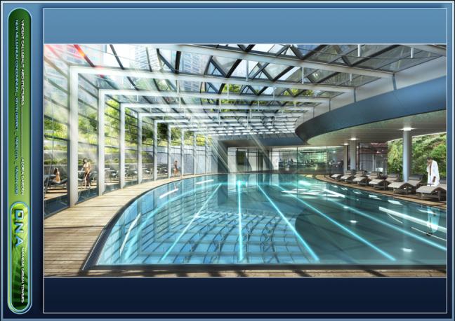 agora garden piscina ubicada en el sótano