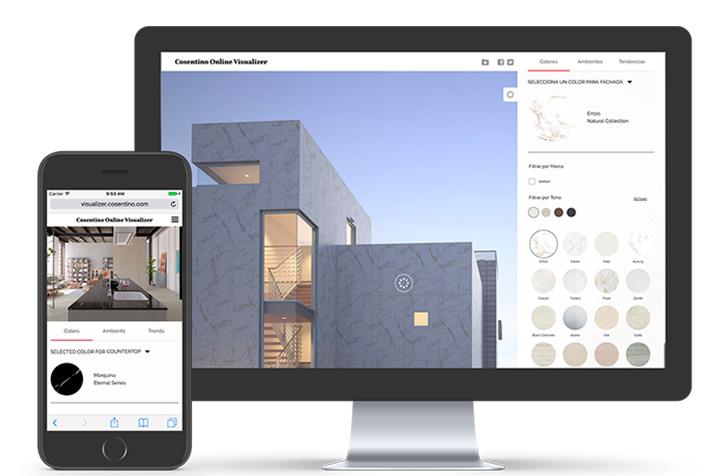 Dipingere le pareti di casa virtualmente. Online Visualizer L App Di Simulazione Colori Del Gruppo Cosentino