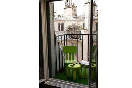 Mini balcon et mini mobilier