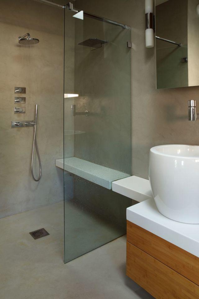 salle de bain douche sans joint