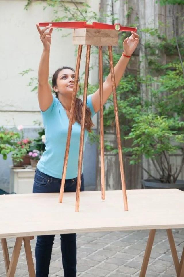 DIY Crer Un Lampadaire En Cuivre Soi Mme Ct Maison