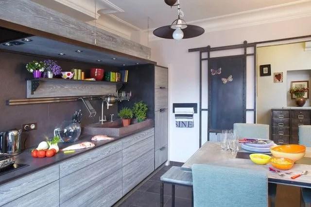 Cuisine En Longueur Amenagement 12 Modeles En Photos Cote Maison