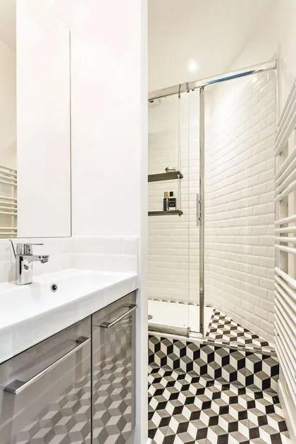 carrelage petite salle de bain cote