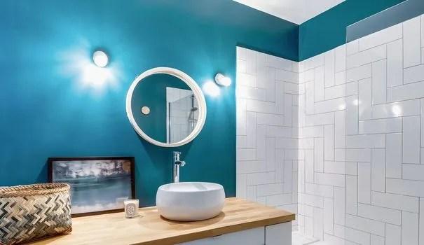 peinture salle de bains couleurs