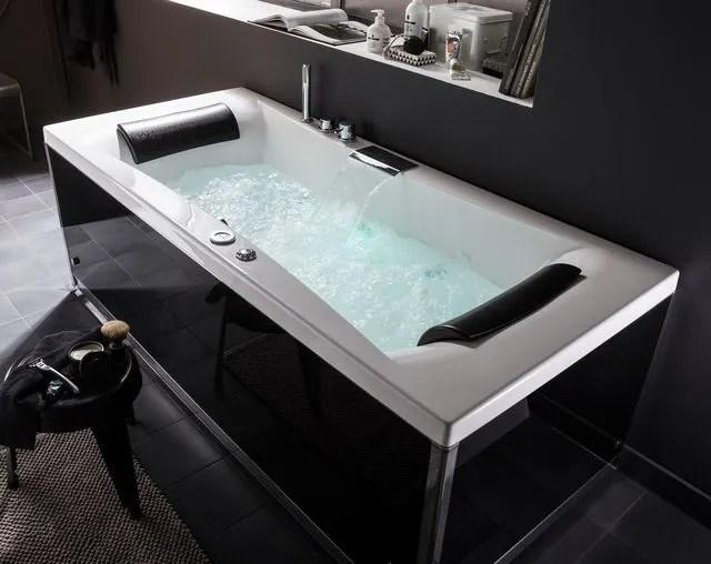 baignoire balneo rectangulaire thala dim l 180 x l 80 cm