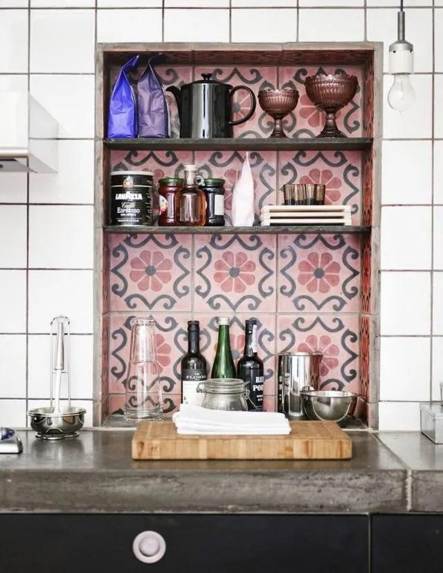 cuisine en bois vintage scandinave