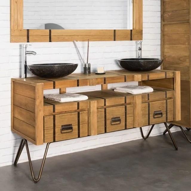 meuble en bois et metal