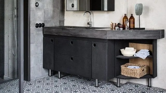vive les carreaux de ciment dans la salle de bains