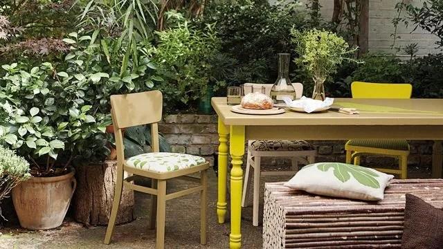 repeindre du mobilier de jardin en