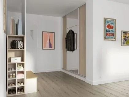 agrandir special petits espaces un placard avec portes coulissantes