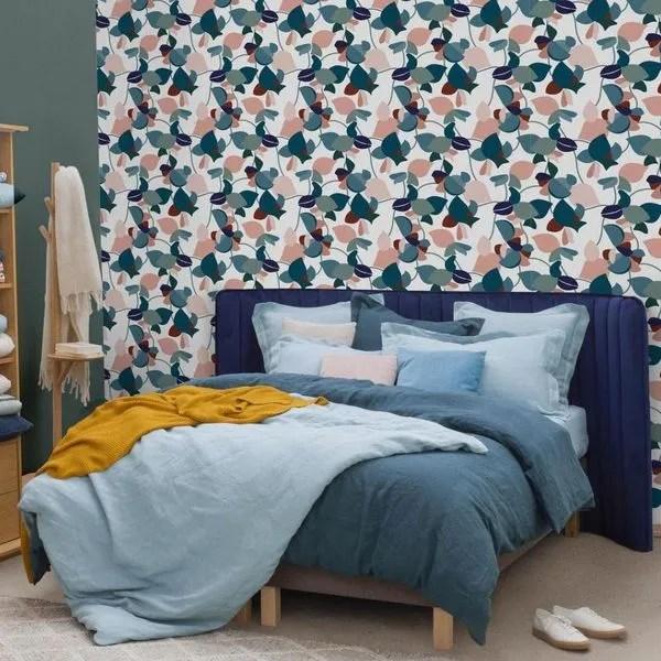 agrandir une tete de lit en velours chez habitat