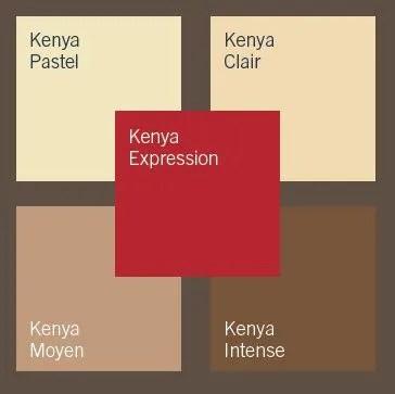 Palette Kenya Un Cocktail De Beige Et De Rouge
