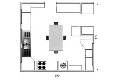 Plan Cuisine Gratuit 20 Plans De Cuisine De 1 M2 A 32 M2 Cote Maison