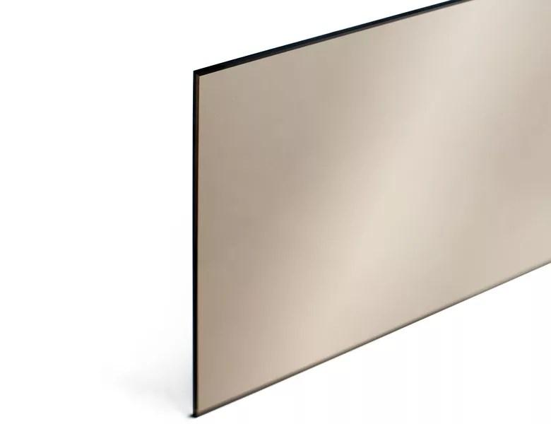 miroir sur mesure miroir bronze 6 mm bords polis