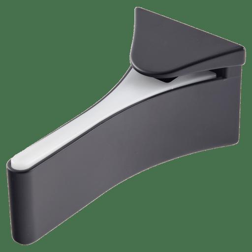support pour tablette en verre support noir mat lot de 2