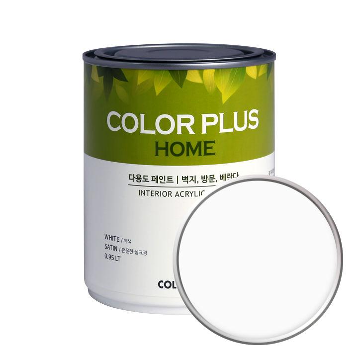 노루페인트 컬러플러스 홈 페인트 1L, 클라우드화이트