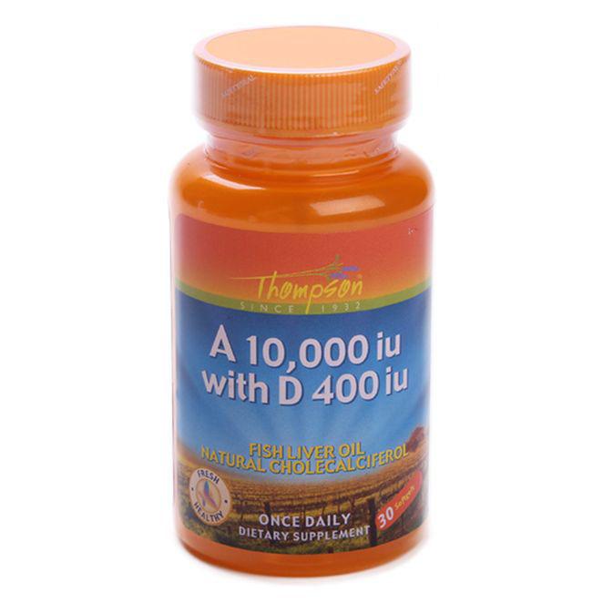 톰슨 비타민 A 10000IU & D 400IU 소프트젤, 30개입, 1개