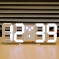 무아스 3D LED 벽시계 미니, 화이트 (TOP 97900723)