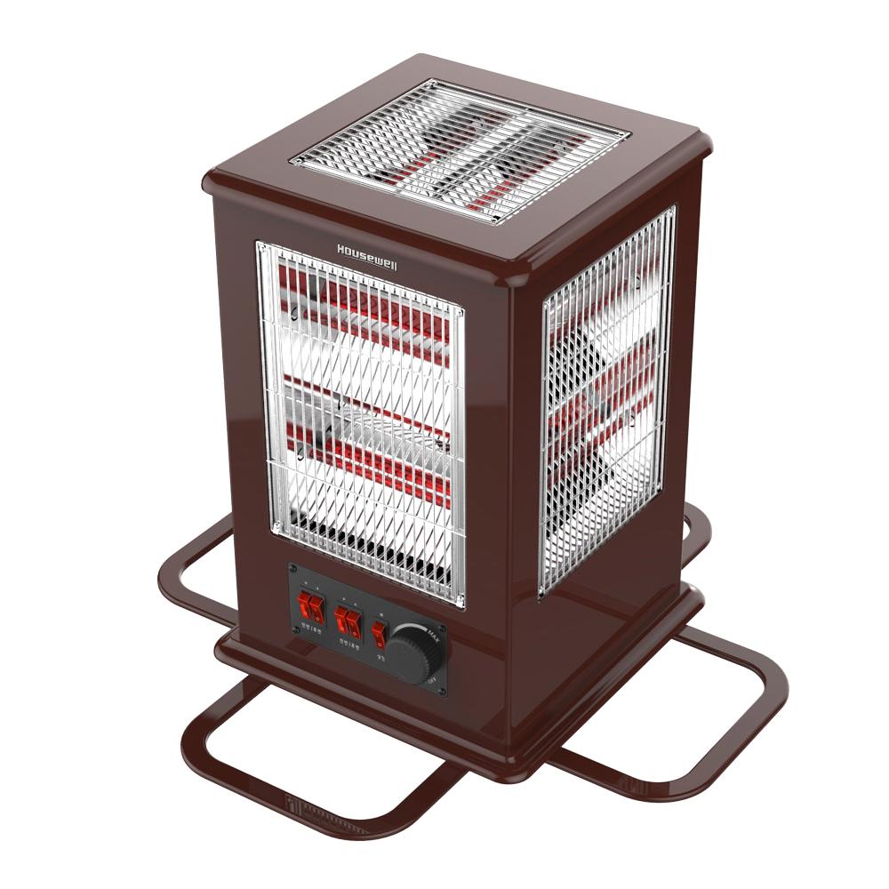 하우스웰 프리미엄 MDF우든소재 따뜻한 이동식 5방향 히터, NCI-H5000, 혼합색상