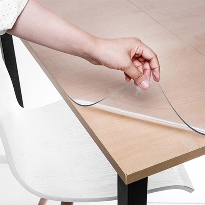 쾌청 책상용 매트, 투명