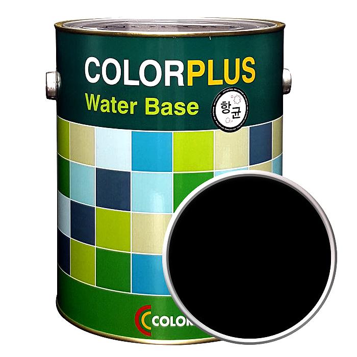 노루페인트 컬러플러스 페인트 4L, 미드나이블랙
