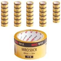 MRO 투명박스테이프 48mm x 50m x 59mic, 투명, 30개입 (TOP 25211415)