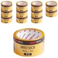 MRO 투명박스테이프 48mm x 50m x 59mic, 투명, 12개입 (TOP 25211415)