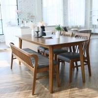 참갤러리 데이지 원목 6인 식탁 + 벤치 + 의자 3p 세트 방문설치, 혼합색상 (TOP 2155163737)