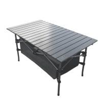 쿨맨 알루미늄 접이식 오토캠핑 테이블 대형, 블랙 (TOP 2201240782)