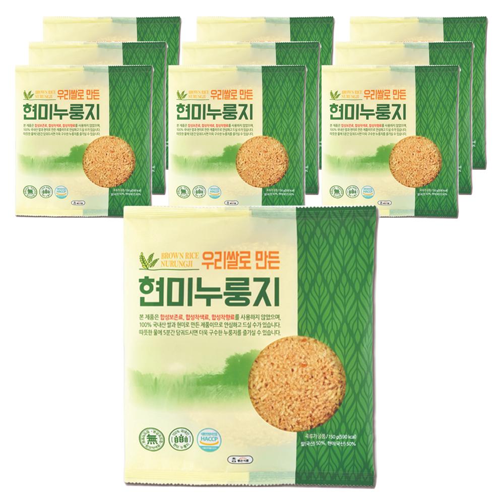 참좋은식품 우리쌀로 만든 현미누룽지, 150g, 10개