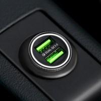 퀄컴 공식 QC3.0 차량용 시거잭 고속충전기, 메탈실버, FP6601Q-1(2포트 미니 36W) (POP 2208231910)