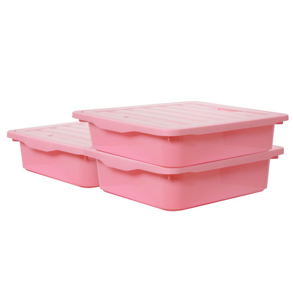 보노하우스 레브스토리지 수납박스 M, 핑크, 3개입