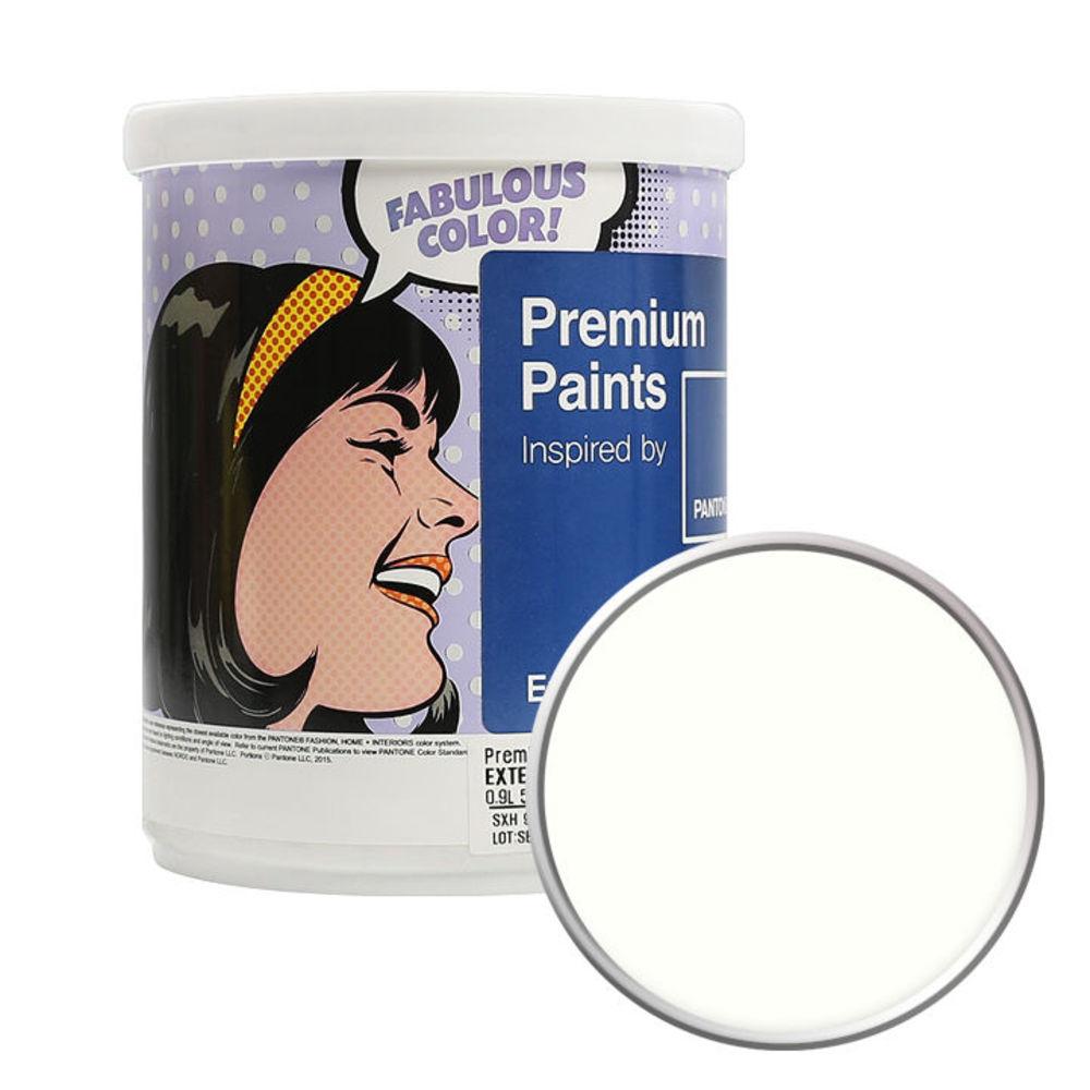 노루페인트 팬톤 외부용 실외 저광 페인트 1L, 11-0103 Cream White