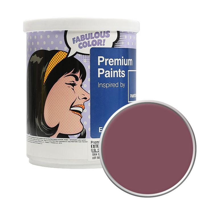 노루페인트 팬톤 외부용 실외 저광 페인트 1L, 18-1418 Crushed Berry