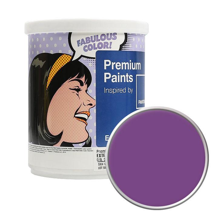 노루페인트 팬톤 외부용 실외 저광 페인트 1L, 19-3438 Bright Violet