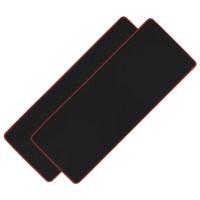 아이크라운 장 마우스패드 ICR-LPD80, 블랙 + 레드, 2개 (TOP 7611080)