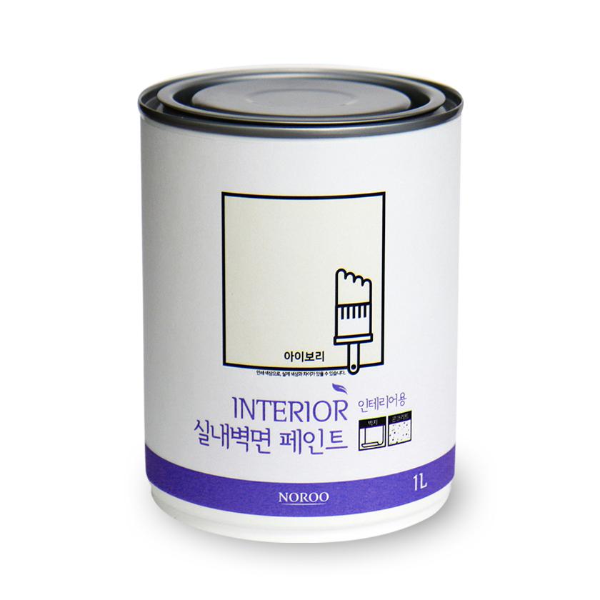 노루페인트 실내벽면용 페인트 1L, 아이보리