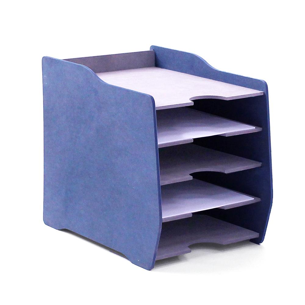 미르와나무 서류보관함, 블루, 5단
