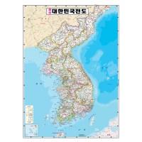 지도닷컴 대한민국전도 학습 코팅형 78 x 110 cm + 세계지도, 1세트 (TOP 328750103)