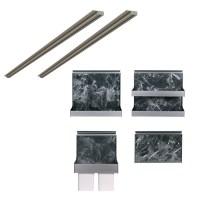이노카 미드웨이 아트월 악세사리 4종 세트 + 부착 레일 800mm x 2p, 블랙마블 (TOP 1248226749)