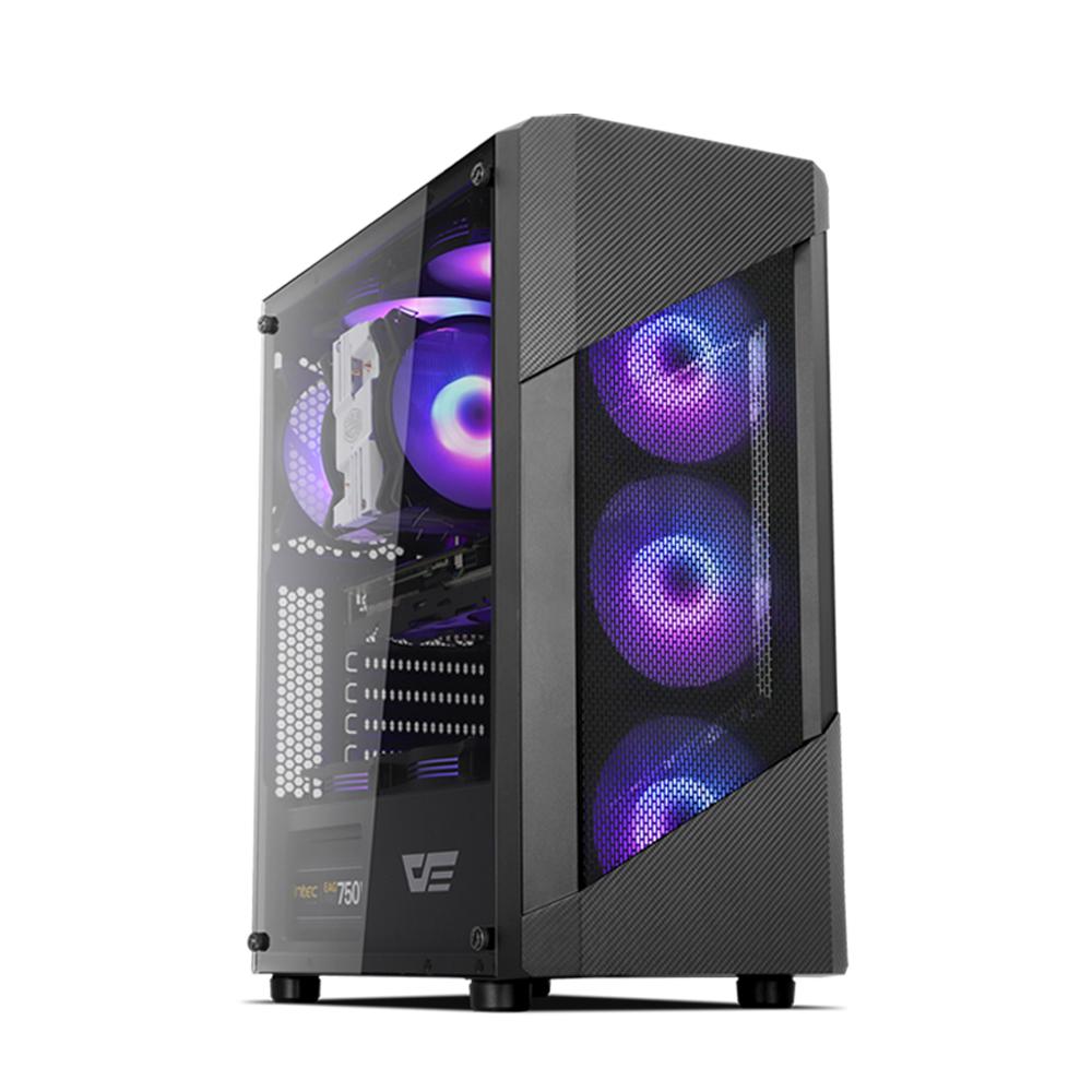 프리플로우 GAMING PC 블랙 HELLO CREATOR 9706S (인텔 9세대 i7-9700 WIN미포함 RAM 16GB NVMe 256GB GTX1660 Super 6GB), 기본형