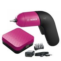 보쉬 IXO 6 COLOUR 3.6V 충전 스크류드라이버 핑크, 1세트 (TOP 1296934819)