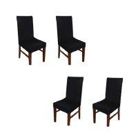 아리코 식탁 의자 커버 4p, 블랙 (TOP 1421864637)
