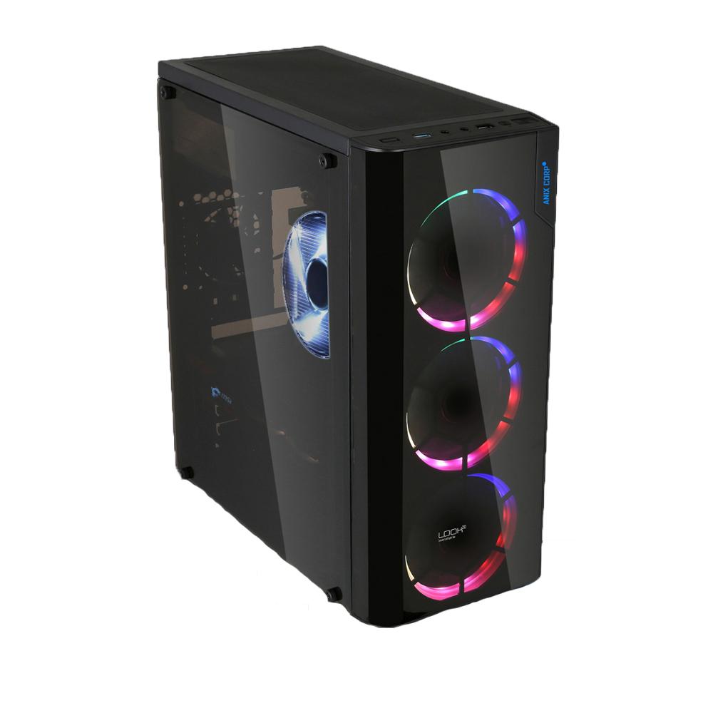 LOOK20 레인보우 DOUBLING 풀아크릴 케이스 조립 PC (AMD 라이젠5 3400G RAM 8GB SSD 250GB WIN미포함), 단일상품, 기본형