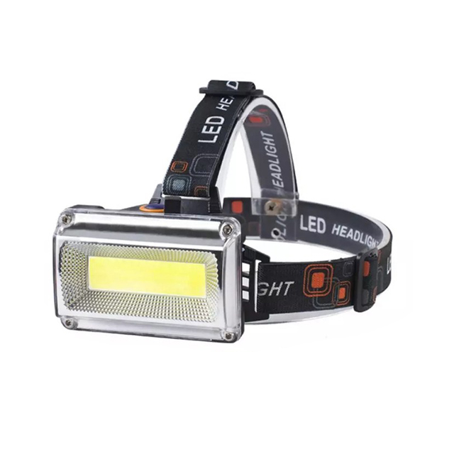 10W COB LED 충전식 헤드랜턴 DH6684, 혼합색상, 1개