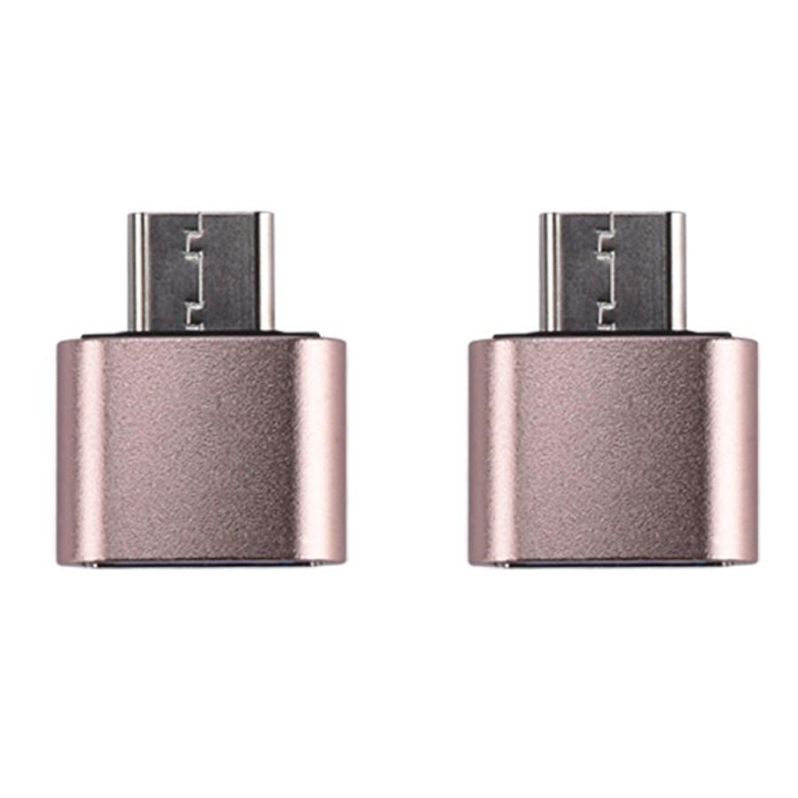 칼론 USB 3.0 미니 C타입 OTG젠더 KR-MCOTG, 핑크골드, 2개