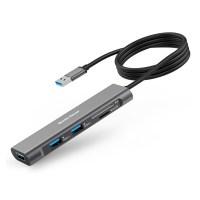 베이직기어 USB 3.0 5 in 1 멀티허브, 혼합색상 (POP 1910831243)